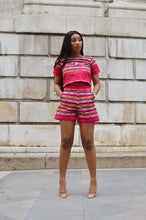 Load image into Gallery viewer, Asha African print Ankara kente short and crop top matching set / co_ord 2 piece - Afrothrone
