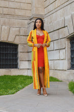 Load image into Gallery viewer, Binta African Print Kente duster coat - Afrothrone
