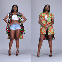 Load image into Gallery viewer, Dalia African print reversible kimono/ duster - Afrothrone