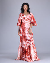 Load image into Gallery viewer, Maha African tie dye wrap dress/ kimono - Afrothrone