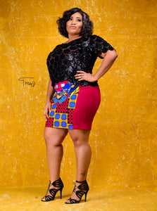The Azizi African prink skirt - Afrothrone