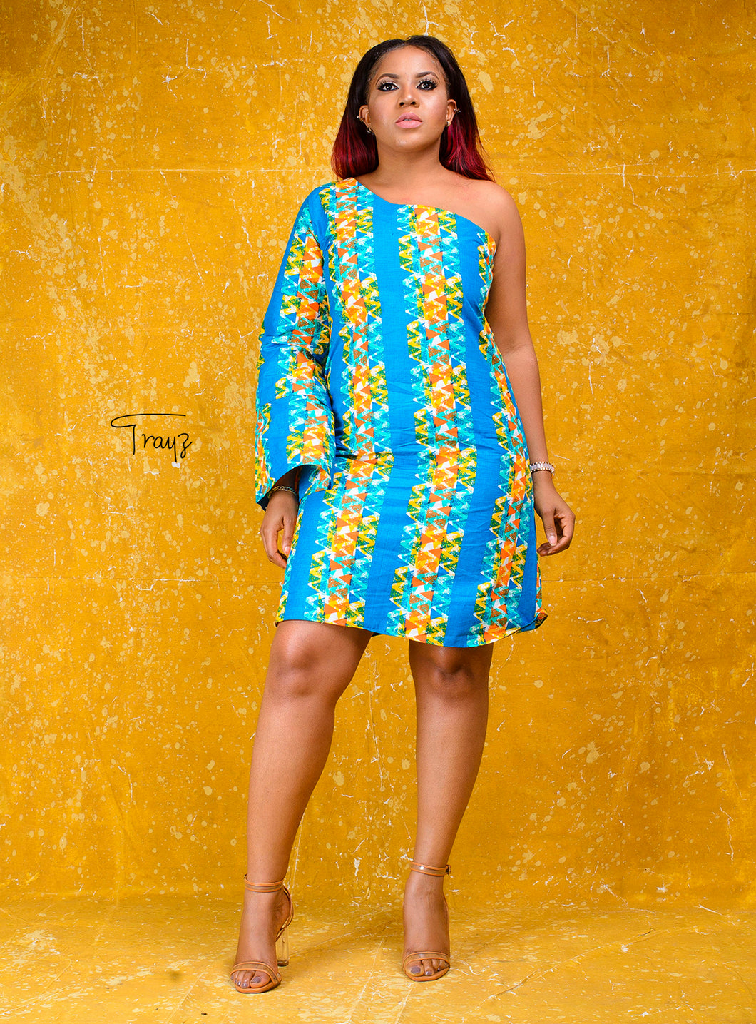 Kansime African print dress - Afrothrone