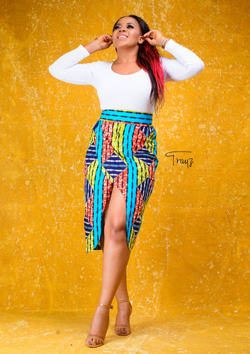 Aku African Print Skirt - Afrothrone