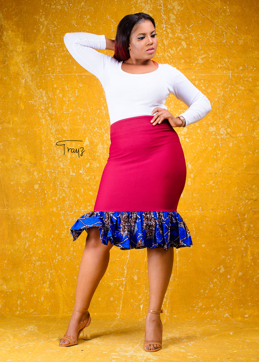 Mandisa African print skirt - Afrothrone