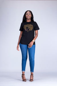 Afro girl African T-shirt - Afrothrone