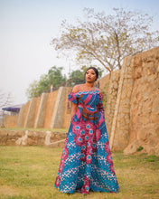 Load image into Gallery viewer, NEW IN Ashanti African print Ankara maxi dress - Afrothrone