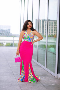 Kali Africa print Ankara maxi dress.