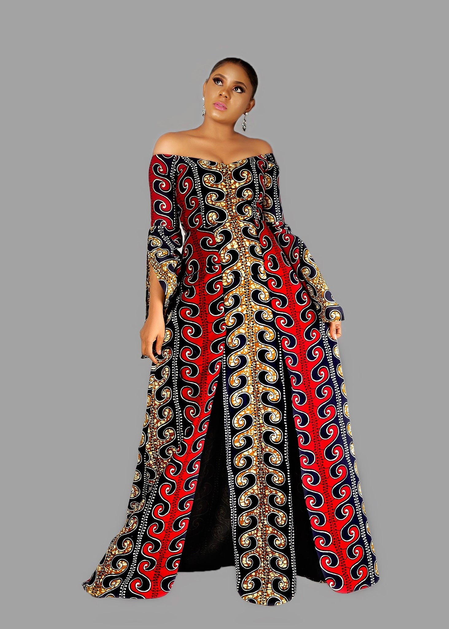 973a5f85a532 Beautiful African Print Maternity Dresses