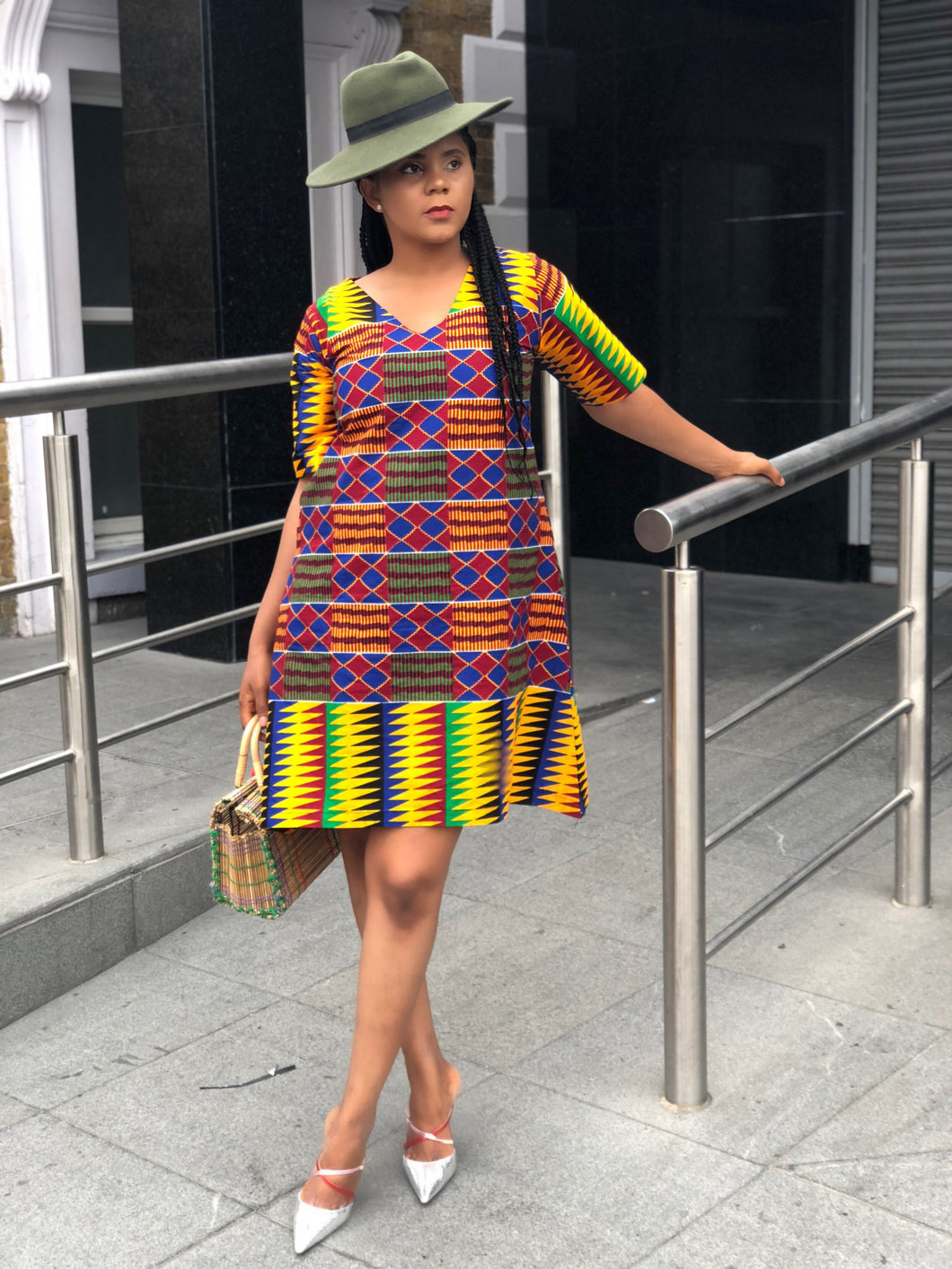 Nwando Kente Tunic/shift dress - Afrothrone