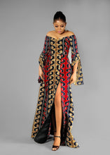 Load image into Gallery viewer, NEW IN Imani African print Ankara maxi dress with double slit - Afrothrone
