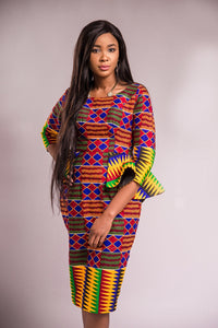 Lerato kente dress - Afrothrone