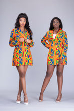 Load image into Gallery viewer, Efya African Print kente 2 piece suit / blazer dress - Afrothrone