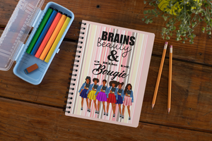 School girl inspirational Spiral notebook/Journal