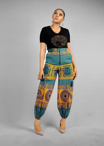 NEW IN Hamamat African print Ankara Cargo pants trouser - Afrothrone