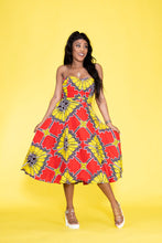 Load image into Gallery viewer, Bonang African print Ankara multi-way dress - Afrothrone