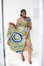 Load image into Gallery viewer, Zuri African print silk skirt