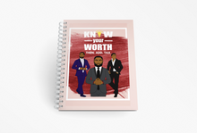 Cargar imagen en el visor de la galería, Know Your Worth Motivational Spiral Notebook / Journal