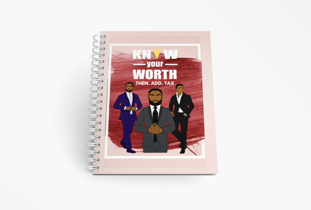 Know Your Worth Motivational Spiral Notebook / Journal