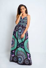Load image into Gallery viewer, Kiki African Print Ankara Maxi Dress - Afrothrone