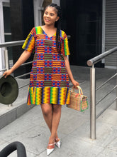 Afbeelding in Gallery-weergave laden, Nwando Kente Tunic/shift dress - Afrothrone