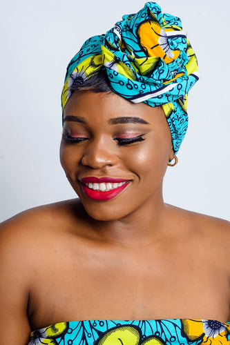 Kimber African Print headwrap - Afrothrone