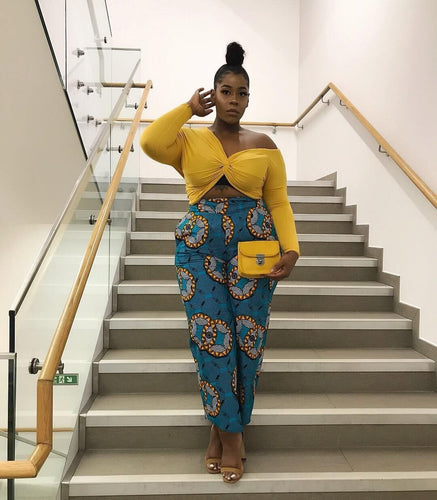 Zino African print culottes - Afrothrone