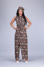 Load image into Gallery viewer, Madison African print Ankara 2 piece wrap trouser / pant skirt and top set - Afrothrone
