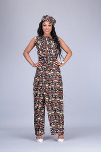 Madison African print Ankara 2 piece wrap trouser / pant skirt and top set - Afrothrone