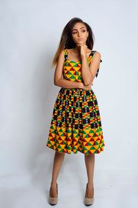 Ono African Print kente dress - Afrothrone