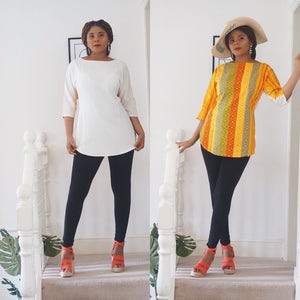 Kandi 2 way kente x crepe top - Afrothrone