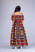 Load image into Gallery viewer, Lulu African print maxi skirt and crop top matching set / co-ord 2 piece - Afrothrone