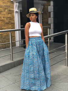 Maita African Maxi skirt - Afrothrone