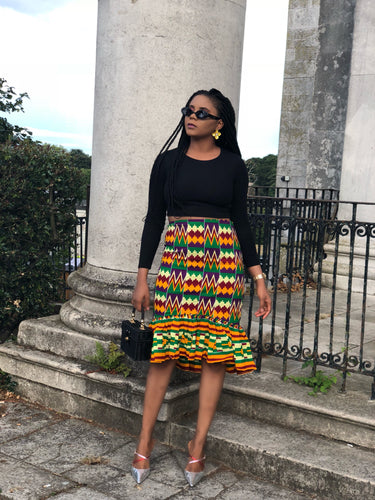 Rona African Kente skirt - Afrothrone