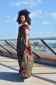 Sanaa African print Maxi dress - Afrothrone