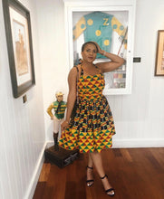 Load image into Gallery viewer, Ono African Print kente dress