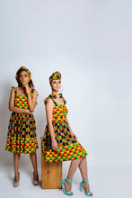 Load image into Gallery viewer, Ono African Print kente dress - Afrothrone