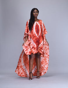 Bahati African tie dye kaftan dress - Afrothrone