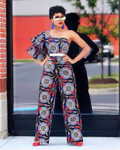Sisi African Print Ankara Jumpsuit - Afrothrone