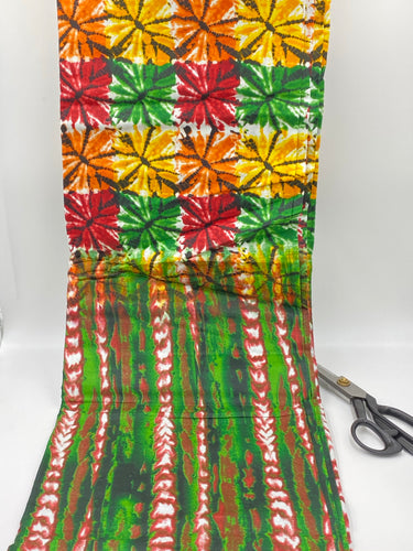African fabric 100% cotton, African print Tye dye fabric by the yard