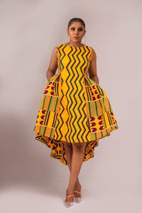 NEW IN Rutendo African print kente dress - Afrothrone