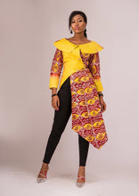 NEW IN Lala African print Asymmetrical tie dye wrap jacket top - Afrothrone