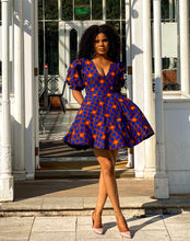 Load image into Gallery viewer, African print Isoken dress