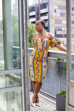 Load image into Gallery viewer, African print Vanu dress