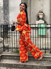 Load image into Gallery viewer, Afoma African print wax Ankara wide leg pants / trousers - Afrothrone