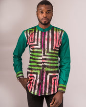 Load image into Gallery viewer, Ade African tie dye men shirt - Afrothrone
