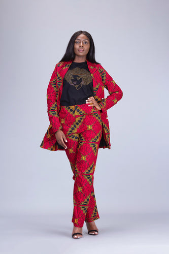 Lola African print 2 piece Suit set - Afrothrone