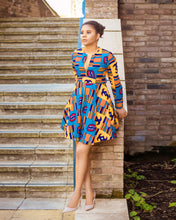 Load image into Gallery viewer, Esi African Print Dress