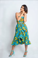 Load image into Gallery viewer, Kimber African Print Ankara Wrap skirt with frills - Afrothrone