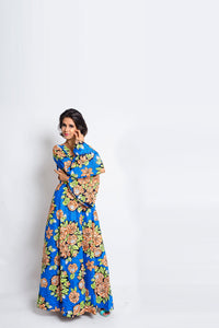 Afua African Print Ankara Maxi dress - Afrothrone