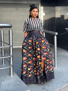 The Cocotte African print hand-dyed Batik maxi skirt - Afrothrone